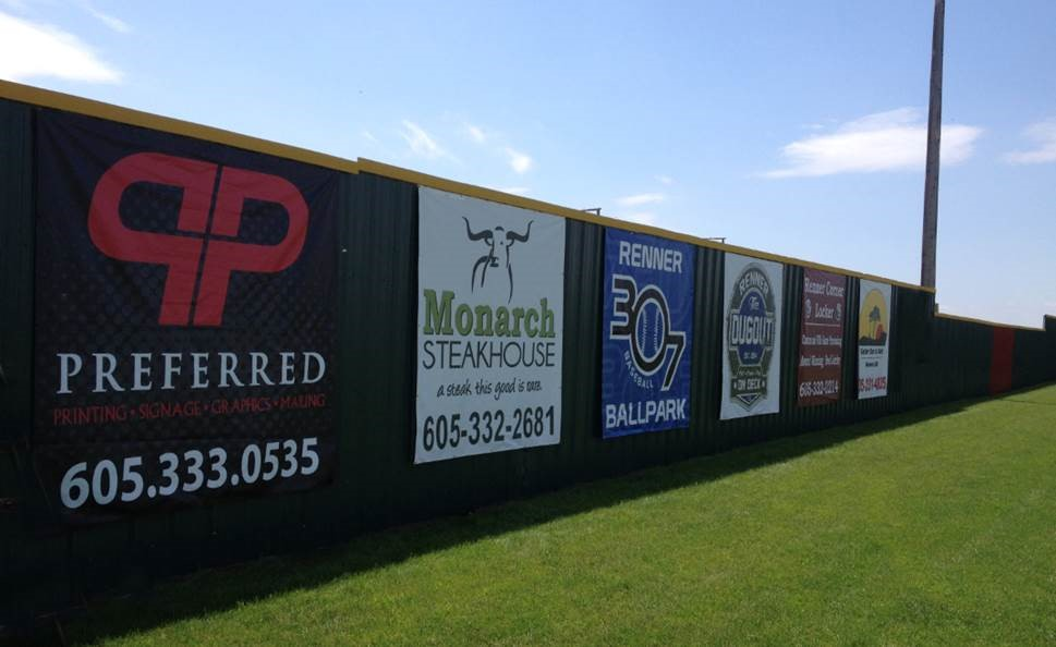 13 oz Vinyl Banners on a Fence | Digital Print Solutions