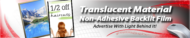 Translucent Non-Adhesive Backlit Film for Wholesale | Digital Print Solutions