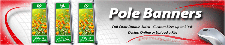 Wholesale Custom Pole Banners - Double Sided Pole Banners - Digital Print Solutions