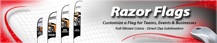 Wholesale Razor Flags - Digital Print Solutions