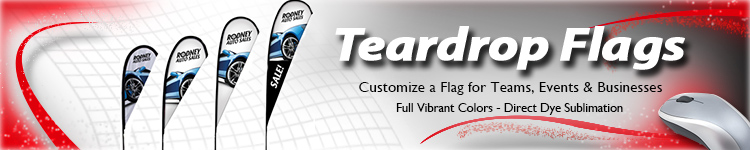 Tear Drop Flags - Digital Print Solutions