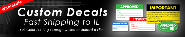 Wholesale Custom Decals for Illinois | Digital Print Solutions