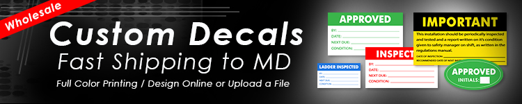 Wholesale Custom Decals for Maryland | Digital Print Solutions