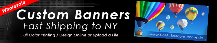 Wholesale Custom Banners for New York | Digital Print Solutions